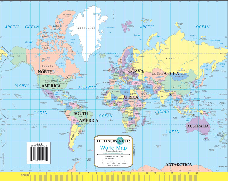 Hudsons usworld notebook map hudson map company hudsons us and world notebook map gumiabroncs
