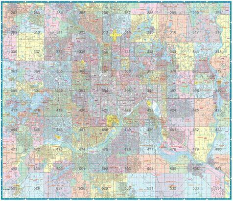 Hudson S Twin City Wall Map Hudson Map Company